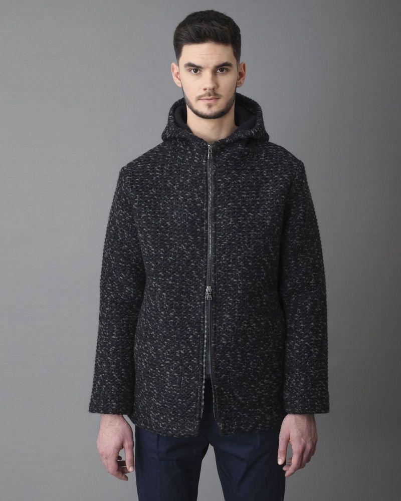 Manteau laine bleue Woolgroup Fiesoli
