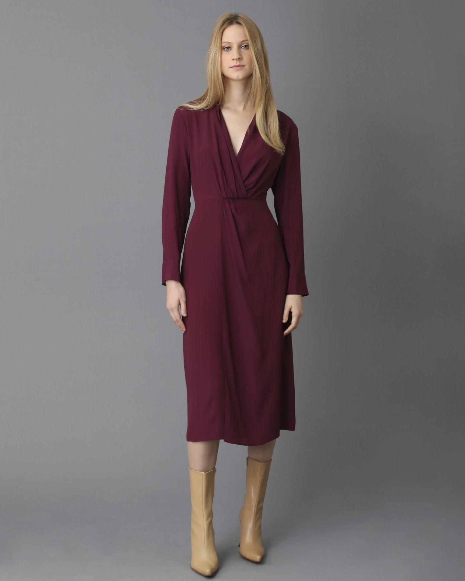 Robe longue violette Space Simona Corsellini