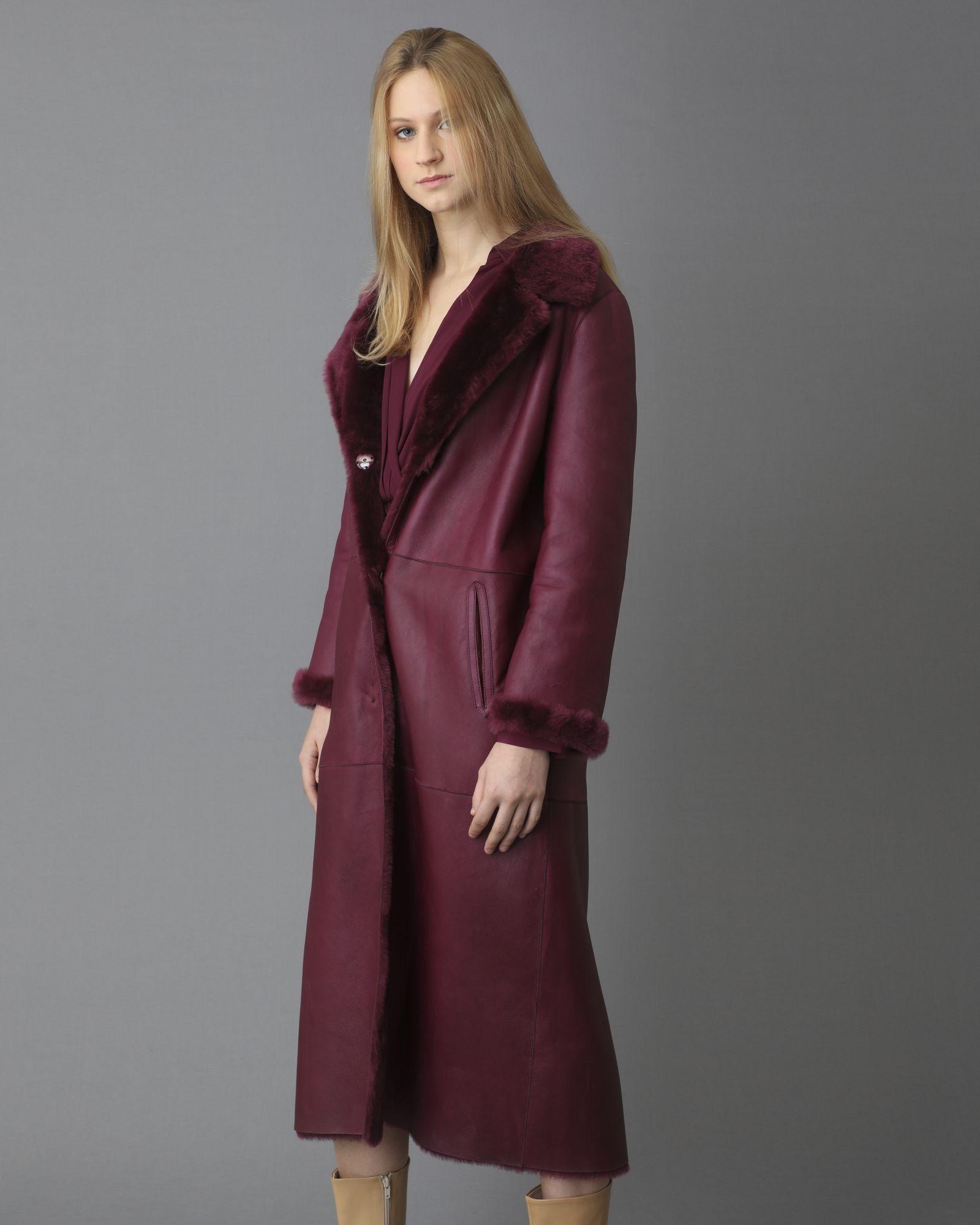 Manteau reversible fourré violet Arma