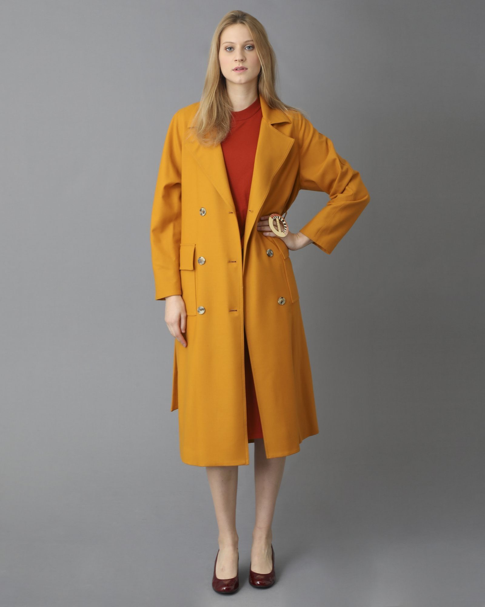 Robe en laine sans manche orange Alexander Mcqueen