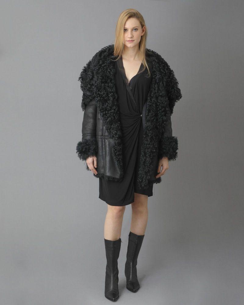 Robe asymétrique à fronces et ornement Emanuel Ungaro