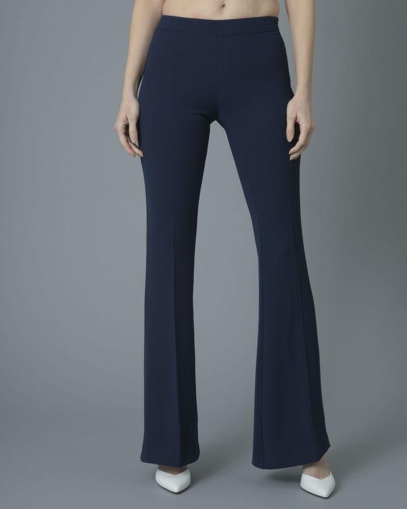 Pantalon navy blue évasé Space Simona Corsellini