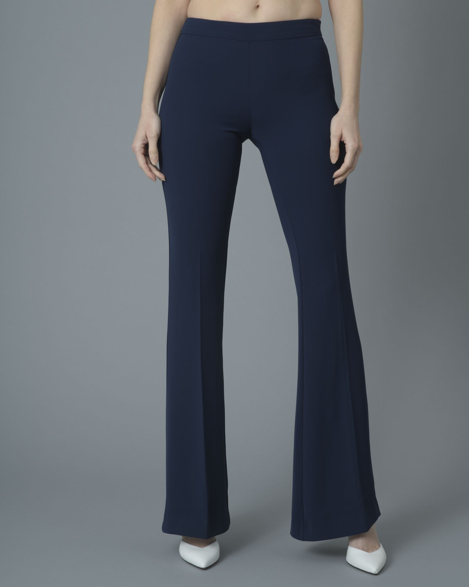 Pantalon navy blue évasé Space Simona Corsellini