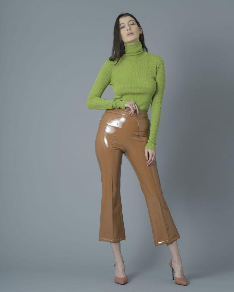 Pantalon évasé en vinyl stretch Jijil