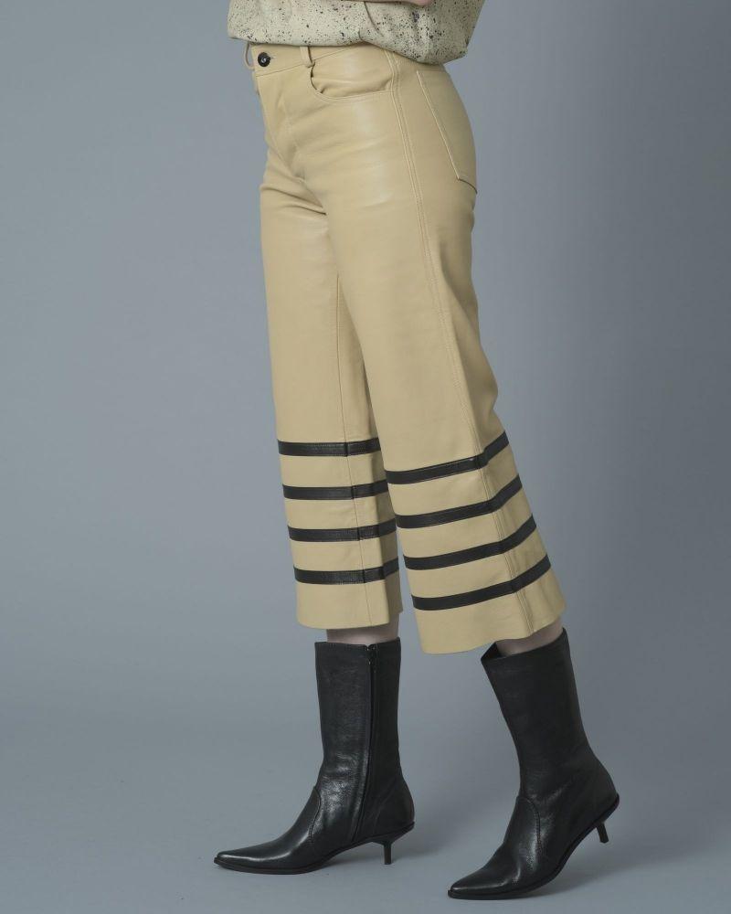 Pantalon droit raccourci en cuir Each Other