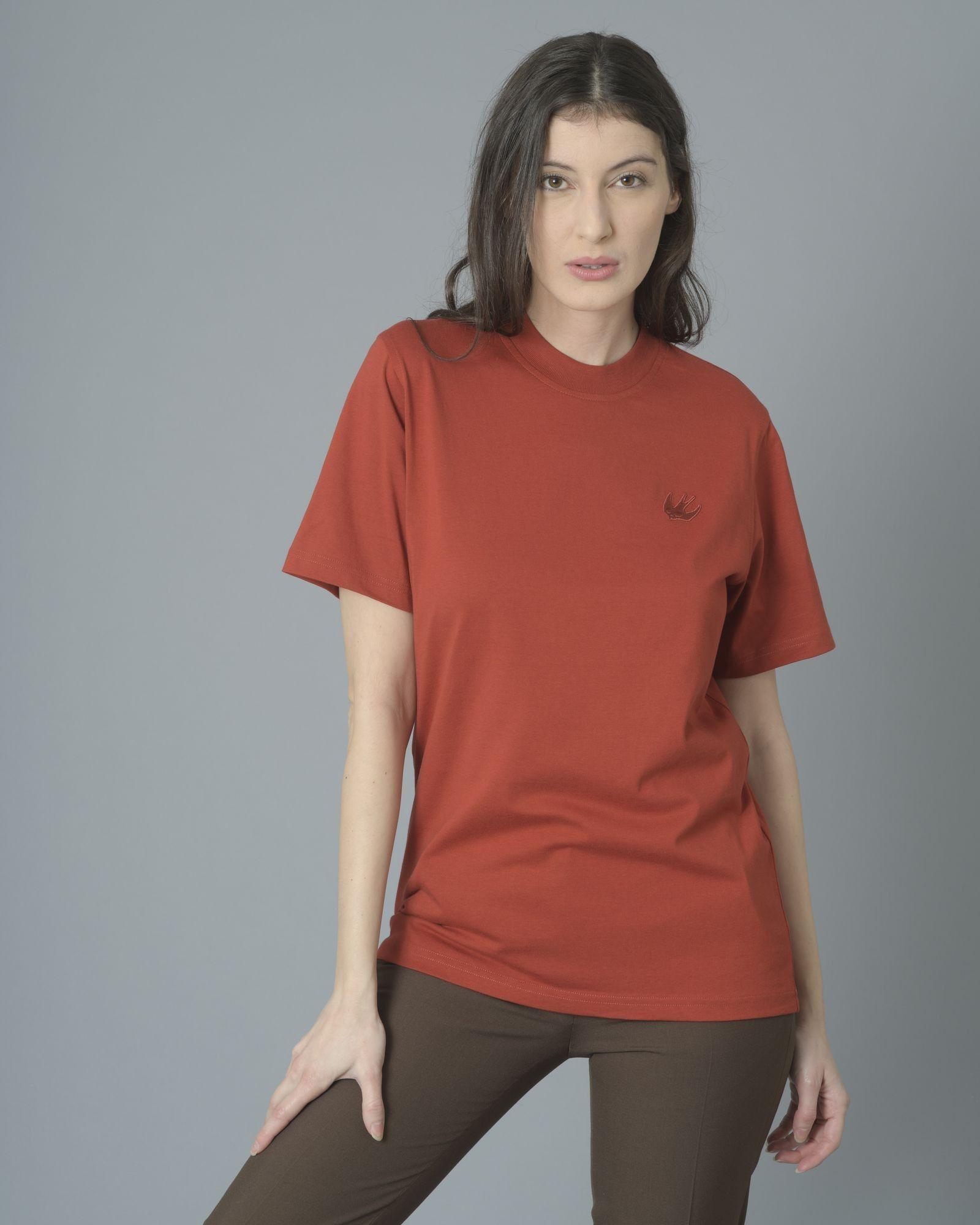 T-shirt rouge brique Alexander McQueen