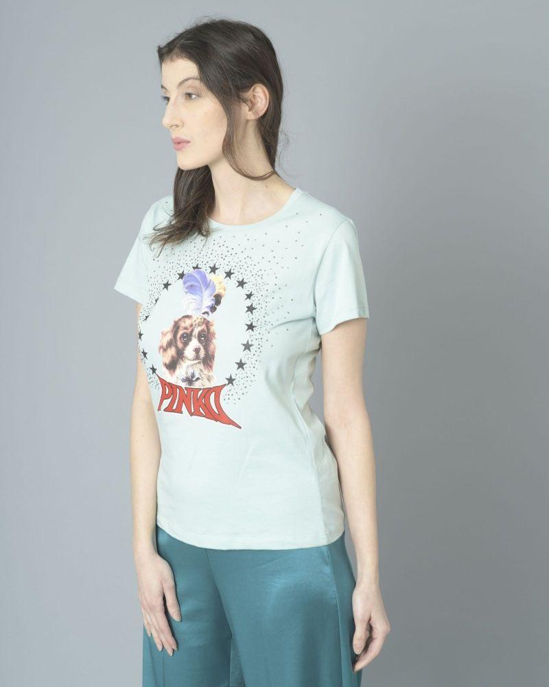 T-shirt en jersey de coton imprimé Pinko