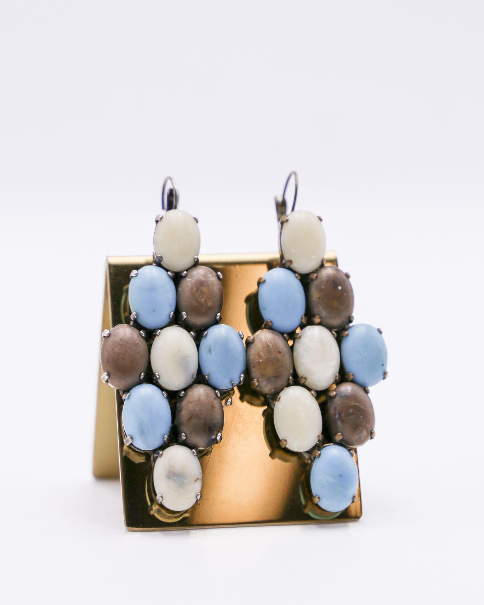 Boucles d'oreilles en pieres multicolores Appartamento