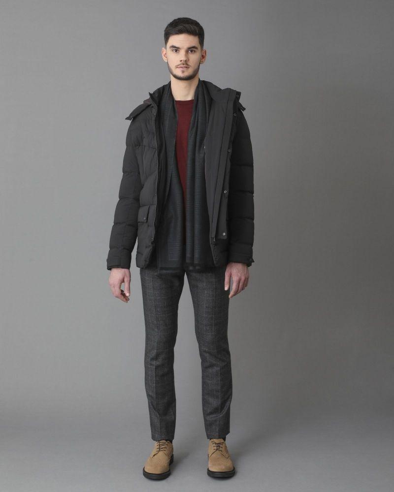 Pantalon tailleur en laine grise à carreaux Ly Adams Ly Adams