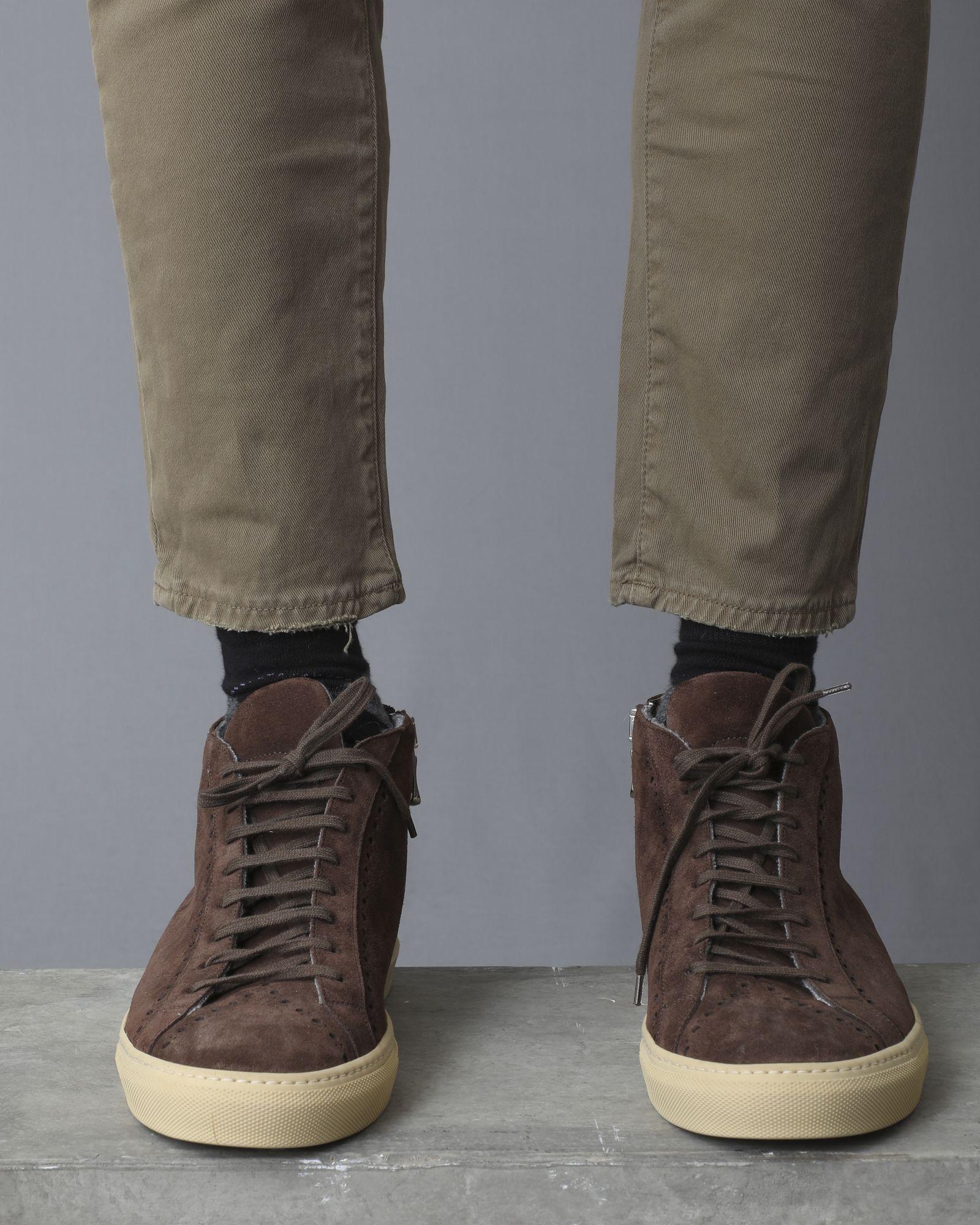 Chaussures montantes en daim marron Casheart