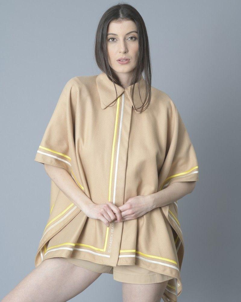 Cape beige cotelée beige Elisabetta Franchi