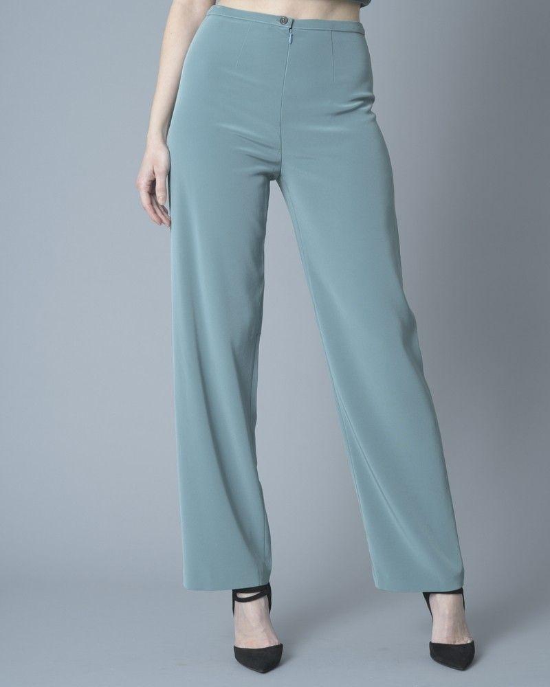 Pantalon large en serge Del Cima