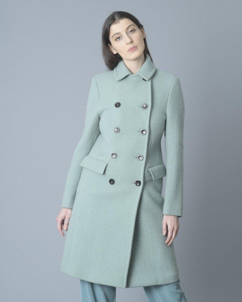 Manteau en laine vert menthe Palto