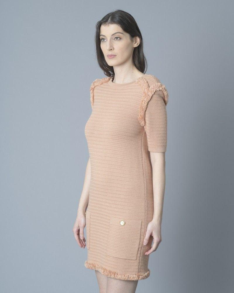 Robe tricot en coton effilé Elisabetta Franchi