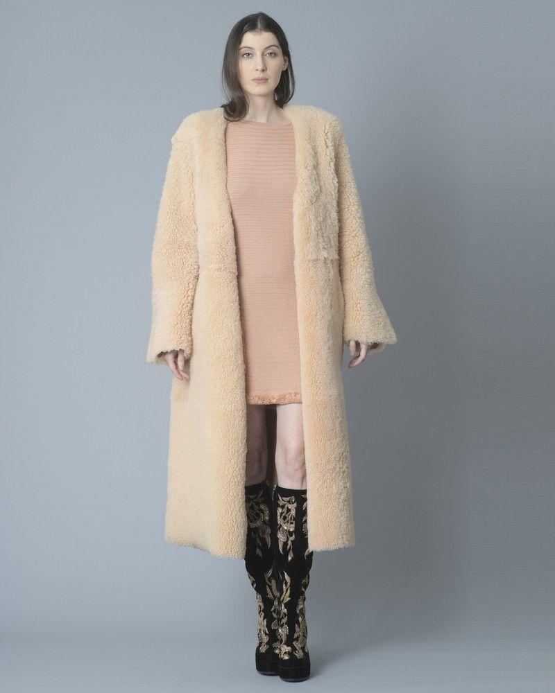 Manteau réversible en peau lainée Eleventy