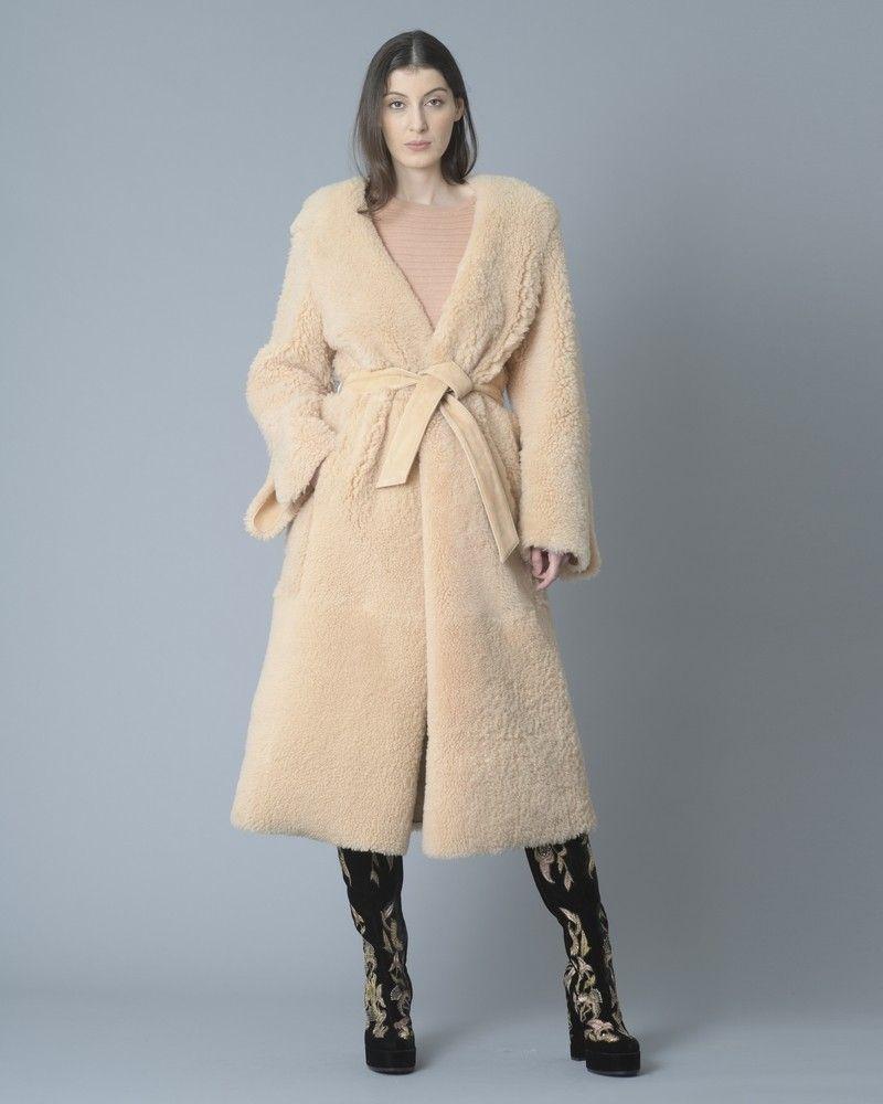 Manteau reversible en cuir d'agneau Eleventy
