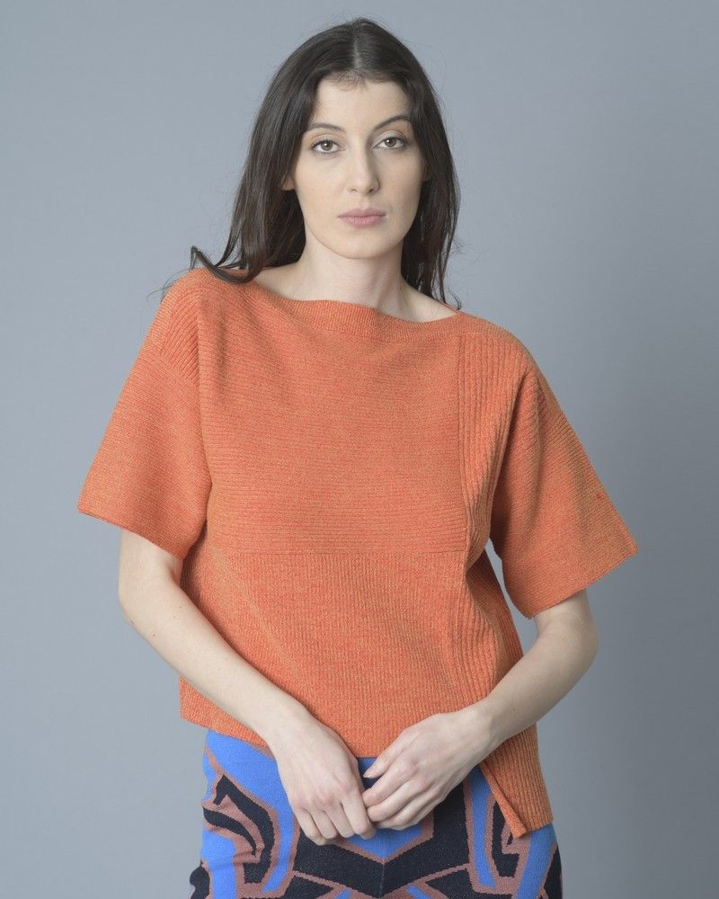 T-shirt tricoté asymétrique Alexander McQueen