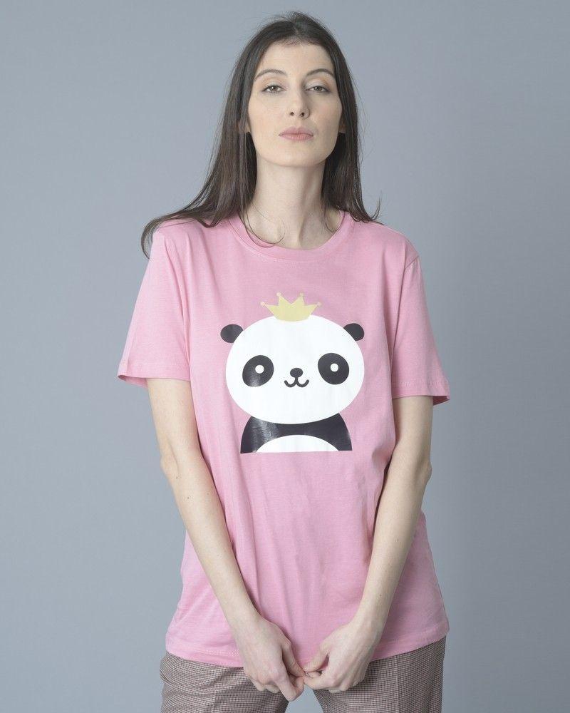 T-shirt panda rose Jijil