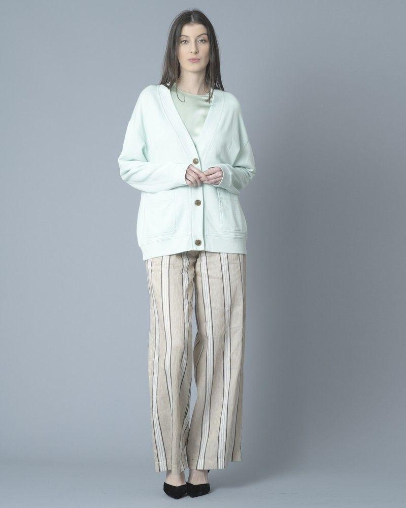 Pantalon en lin à rayures  Jijil