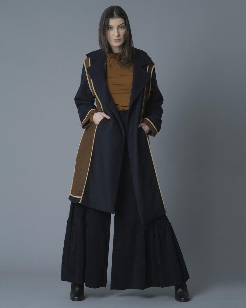 Manteau en laine mélangée à empiècements Stefano Mortari