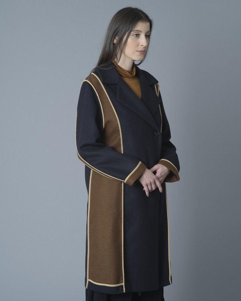 Manteau en laine mélangé à empiècements Stefano Mortari