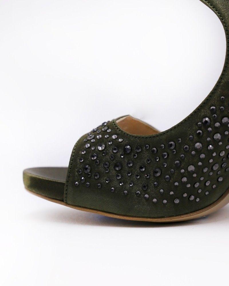 Sandales en satin ornées de cristaux Liu Jo