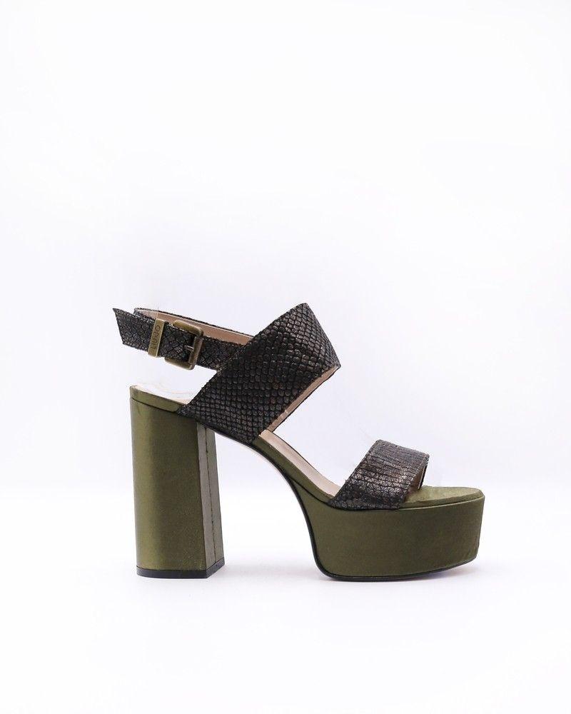 Sandales à plateau sangles crocodile Liu Jo
