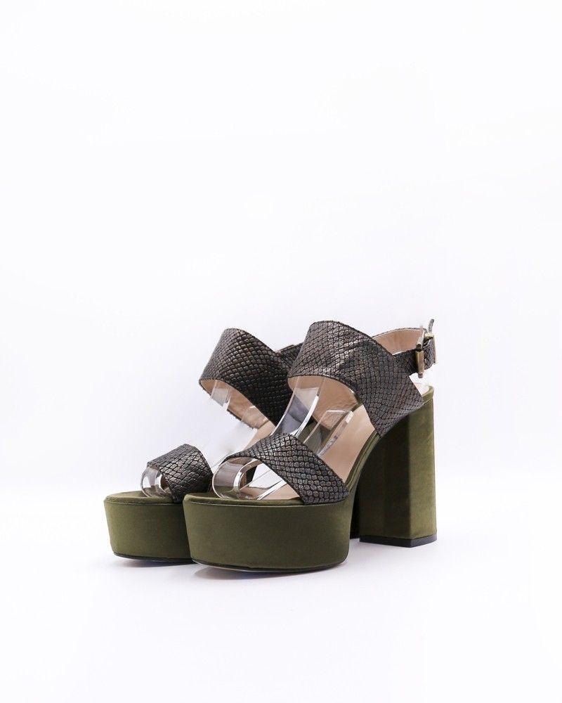 Sandales en satin et effet python Liu Jo