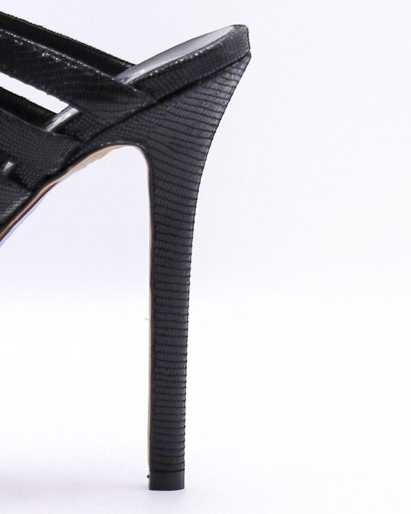 Sandale à talon aiguille effet python Liu Jo