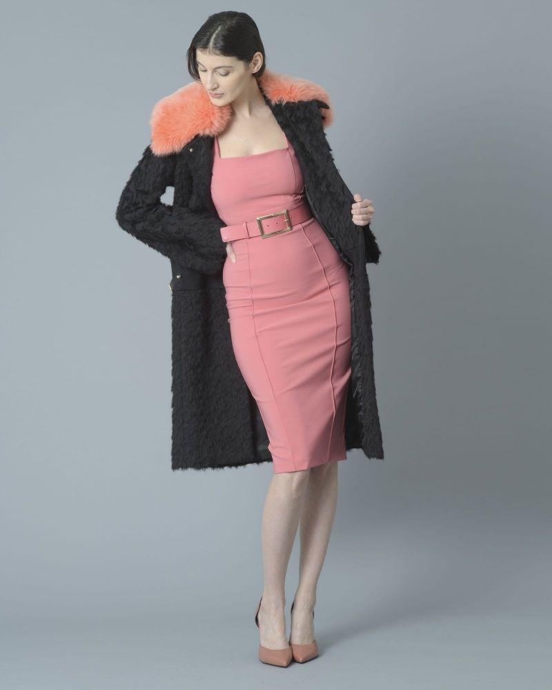 Robe en crêpe stretch rose avec ceinture Elisabetta Franchi