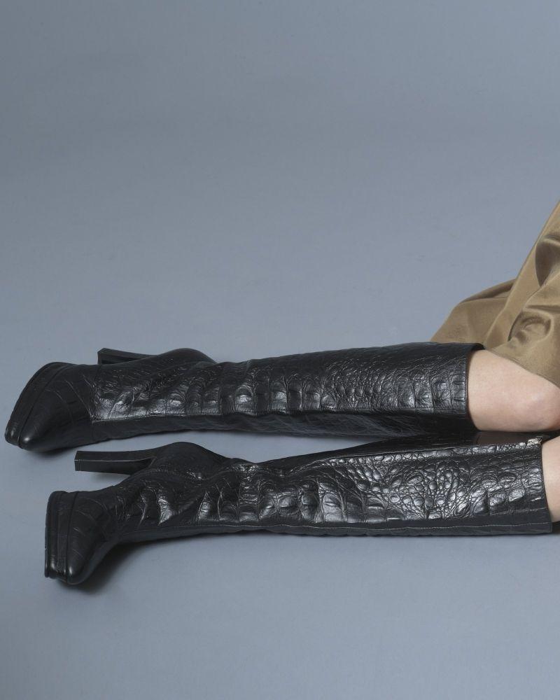 Bottes crocodile Alberta Ferreti