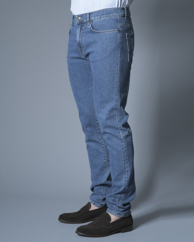 Jeans taille haute bleu clair Alexander McQueen