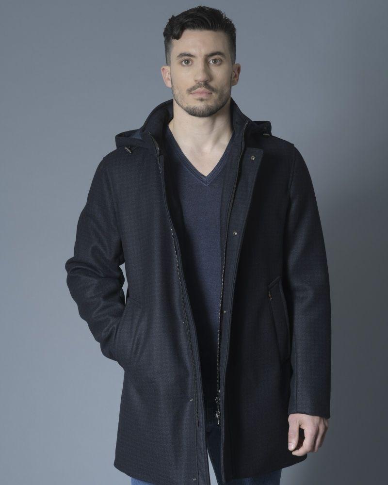 Manteau à cappuche bleu Palto