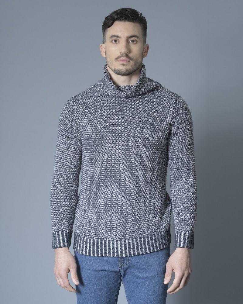 Pull bicolore en laine Ly Adams