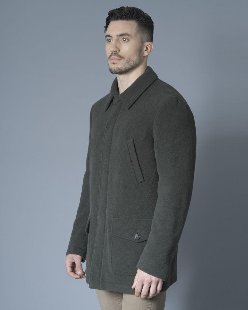 Manteau en laine mélangée kaki Pal Zileri