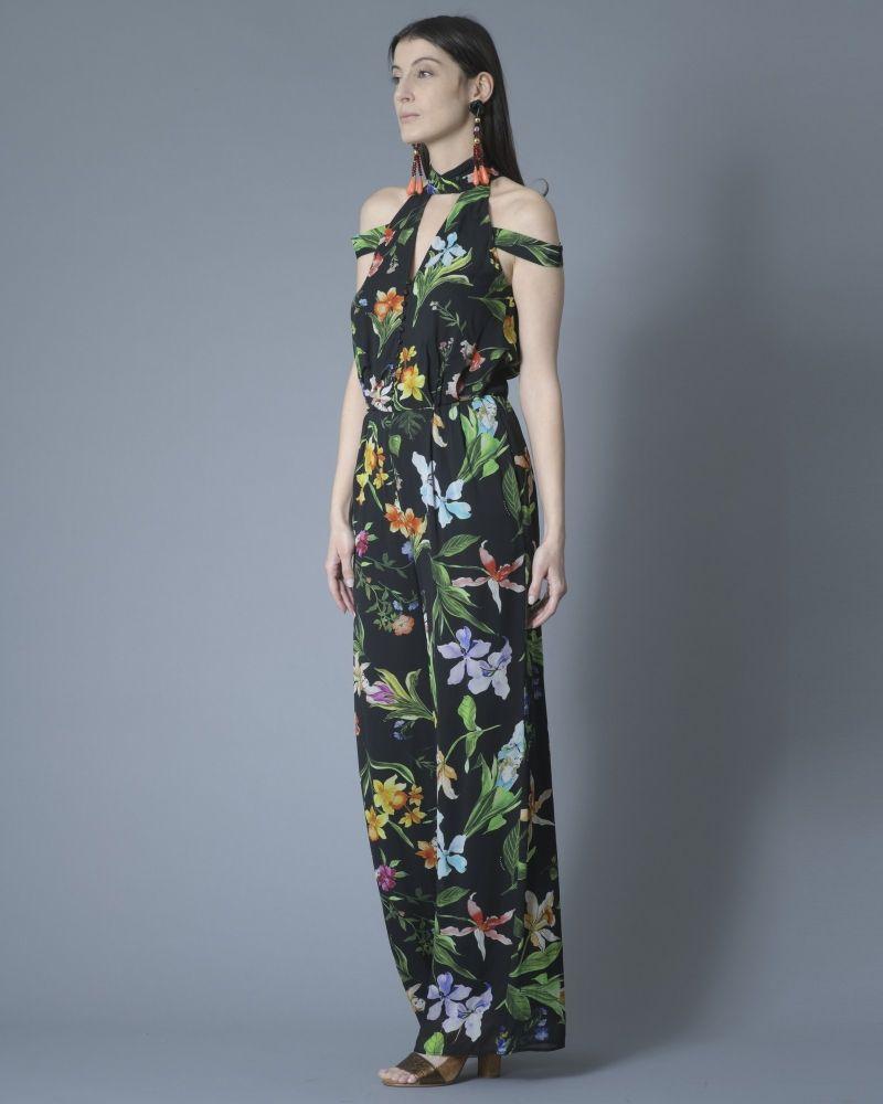Combi-pantalon à imprimé fleuri et découpes Nenette