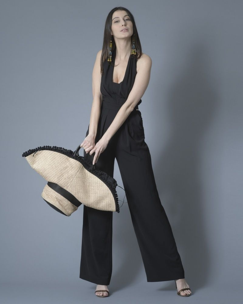 Combi-pantalon dos ouvert en jersey Nenette