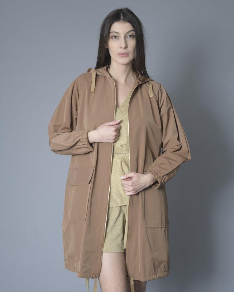 Manteau en tissu technique à capuche Palto