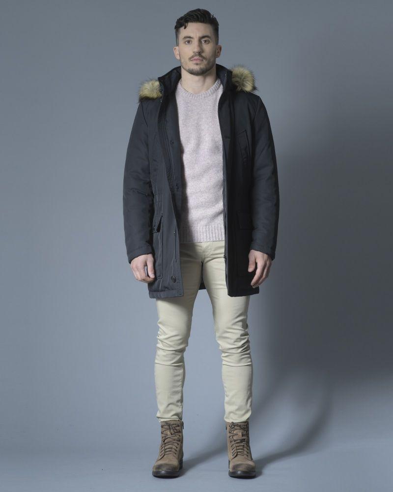 Pull en laine pure rose Casheart