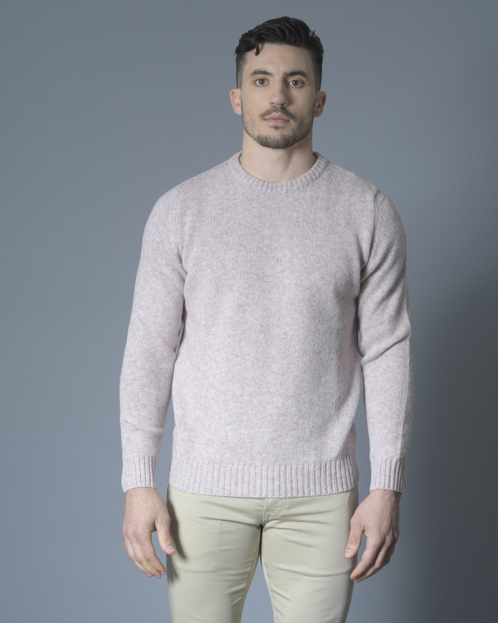 Pull rose col rond Casheart