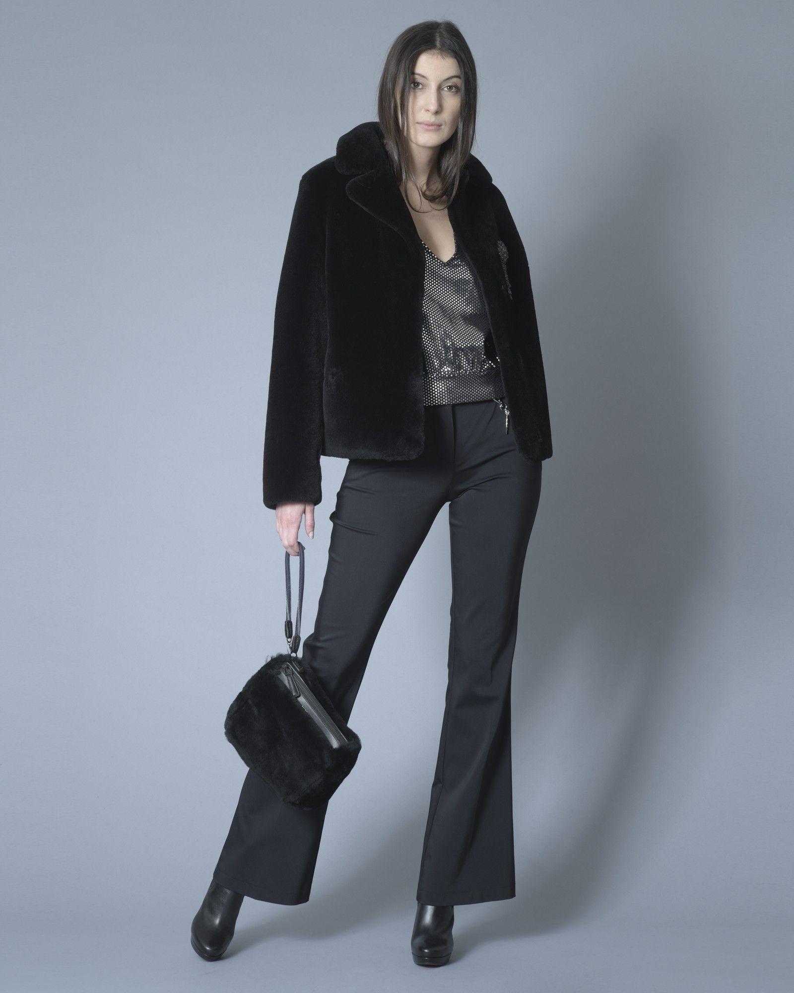 Pantalon noir à chaine Nenette