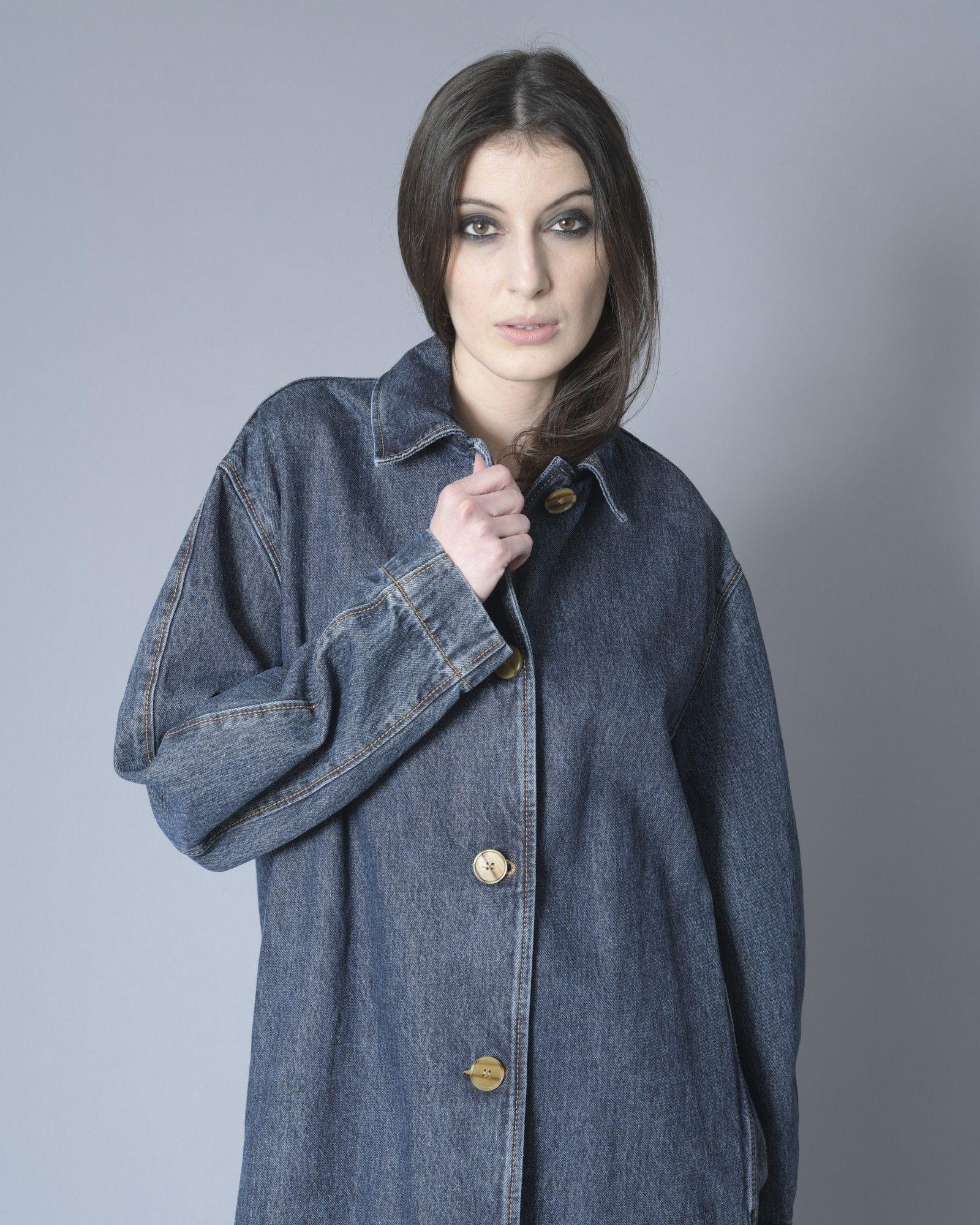 Manteau en jean bleu Alexander McQueen
