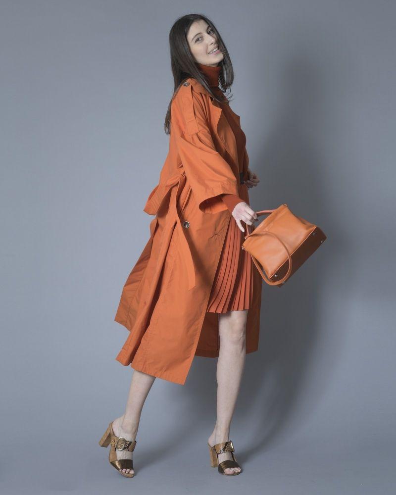 Trench-coat en gabardine de coton mélangé à ceinture Oof Wear