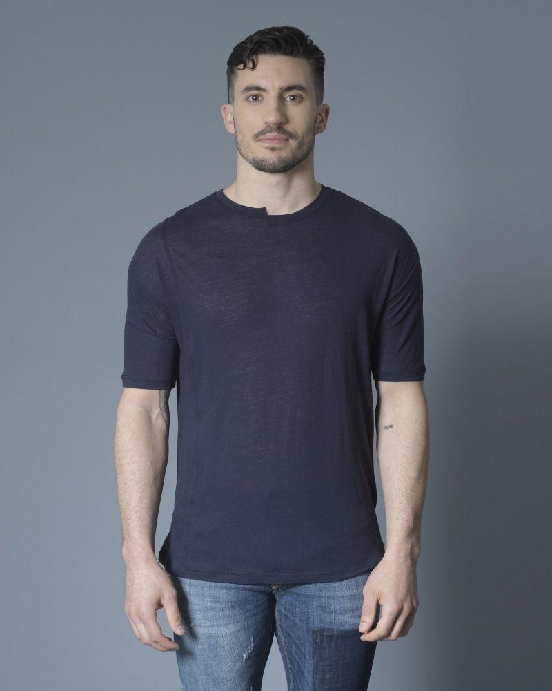 T-shirt bleu col rond Isabel Benenato