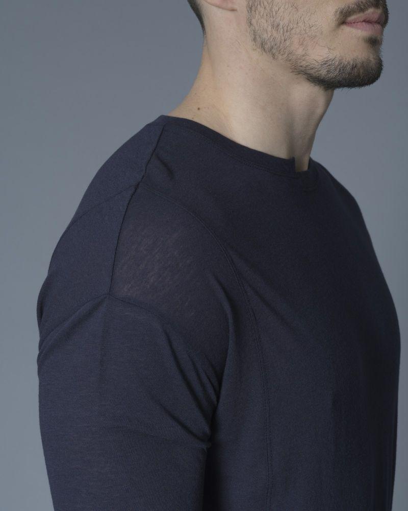 T-shirt asymétrique en jersey de coton et laine Isabel Benenato