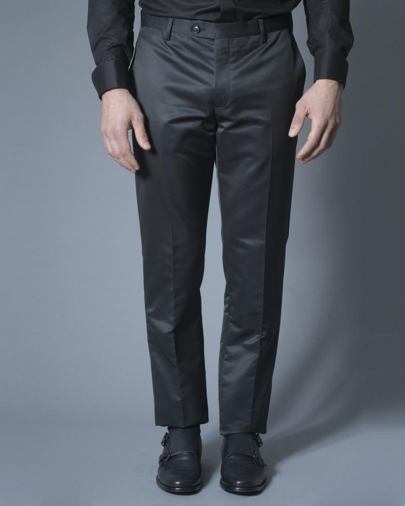 Pantalon en satin noir Corneliani