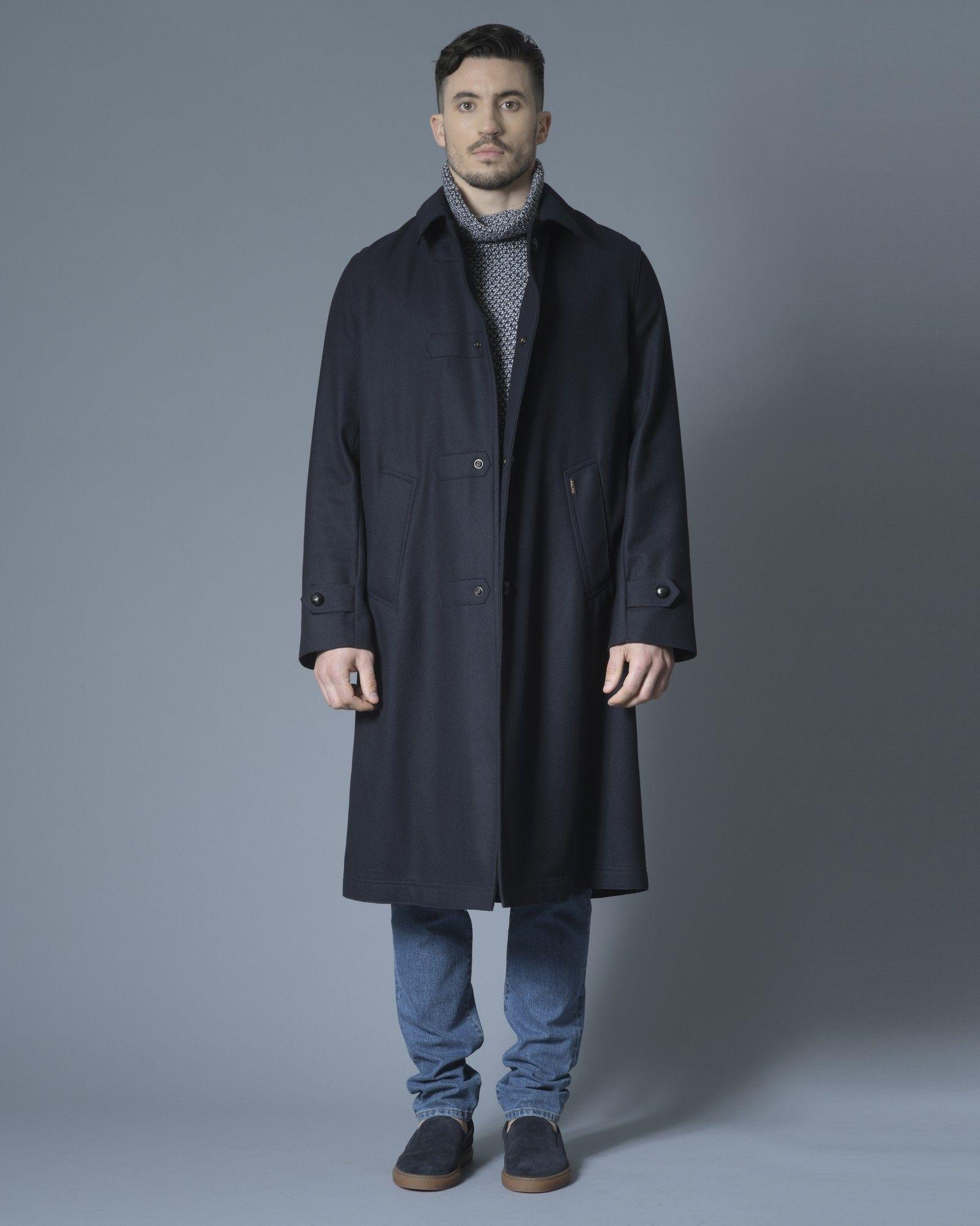 Manteau en laine bleu marine Palto