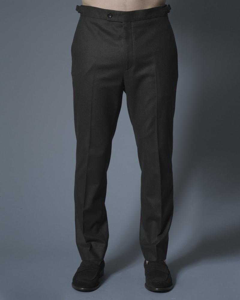 Pantalon tailleur en laine kaki Ly Adams
