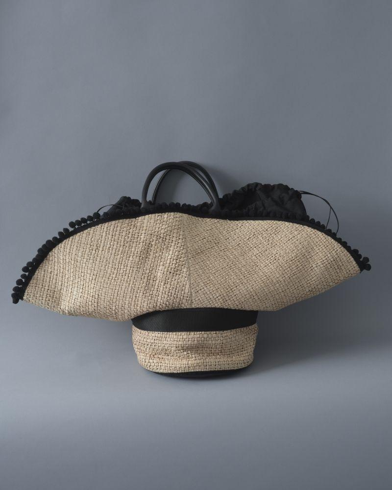 Sac cabas en raphia à forme de chapeau Carditosale