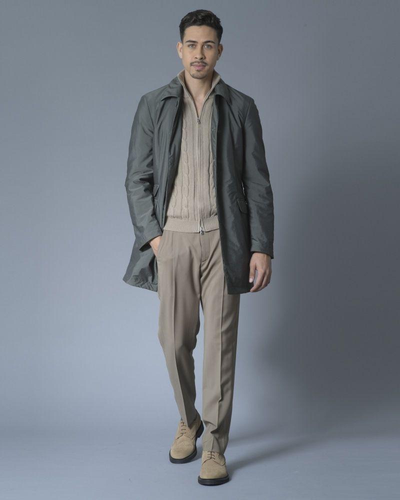 Pantalon droit en laine beige Ly Adams